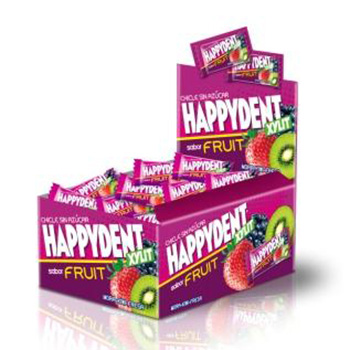 Happydent Xylit sabor berries