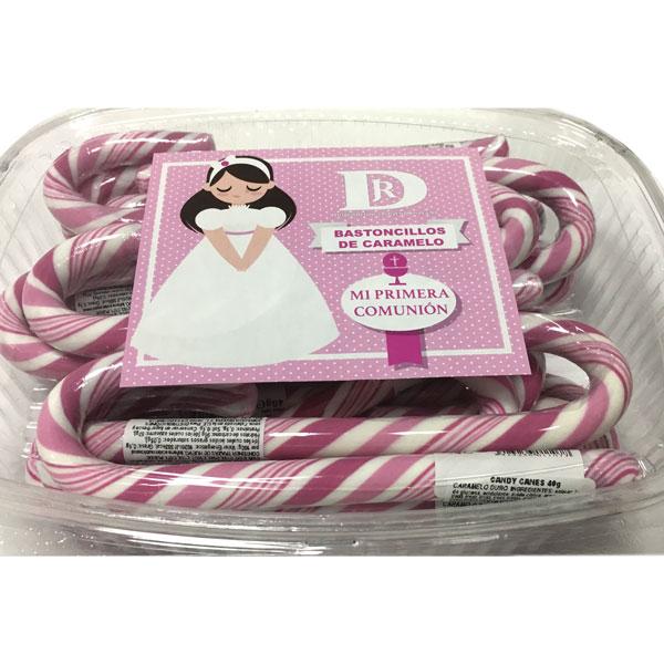 Bastones de Caramelo Rosa y Blanco