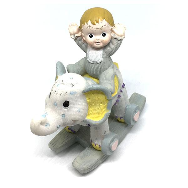 Muñeco de bautizo con elefante