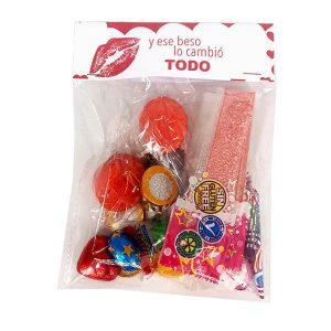 Bolsa surtida de chuches San Valentín