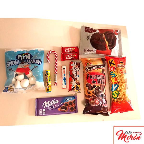 Caja surtida de chuches y chocolates