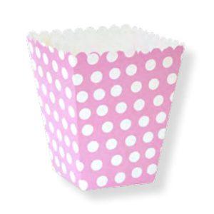 Caja para palomitas lunares rosas