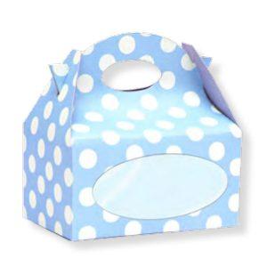 Caja para chuches con lunares azules