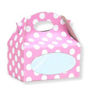 Caja para chuches con lunares rosas