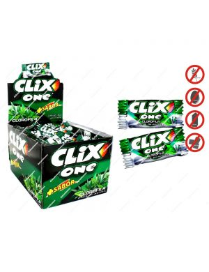 Chicles Clix One Clorofila Sin Azúcar