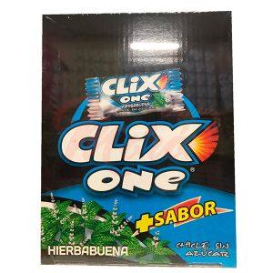 Chicles Clix One Hierbabuena Sin Azúcar