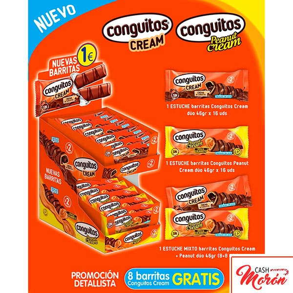 Expositor Conguitos Barritas Cream