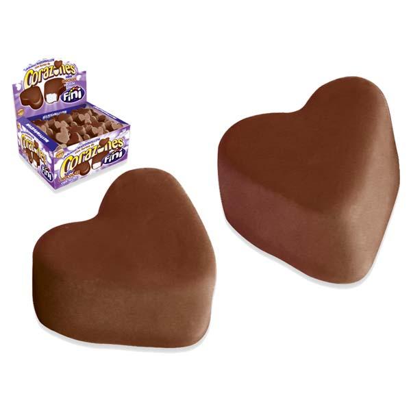 Fini corazones de chocolate con leche