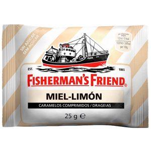 Caramelos Fisherman´s Friend Miel y Limón Sin Azúcar