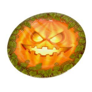 Plato de calabaza para Halloween