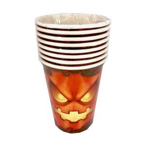 Vasos de calabaza para Halloween