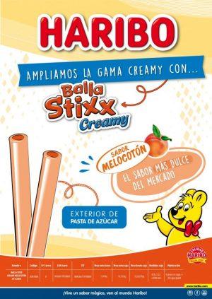 Haribo - Balla Stixx Creamy Melocotón