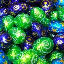 Mini Huevos con Chocolate rellenos de Doña Jimena