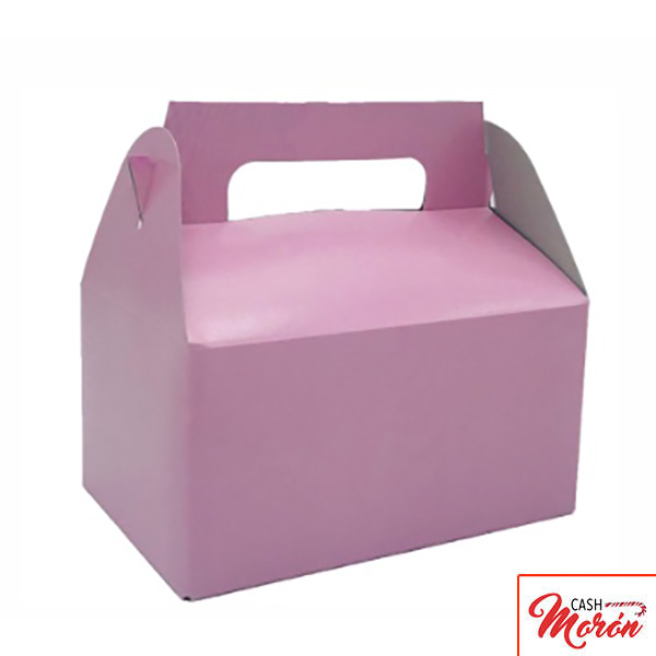 Cajita maletín rosa