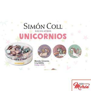 Monedas de Chocolate con Leche Unicornios