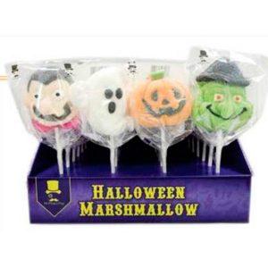 Pinchos de Halloween Marshmallow