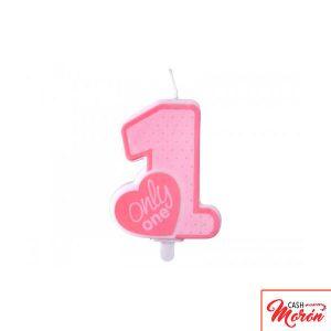Partygama - Vela primer año rosa
