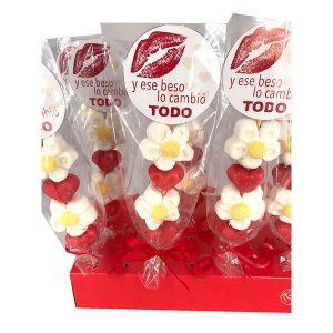 Pincho de chuches para San Valentín