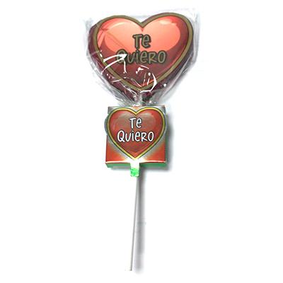 Piruleta de caramelo Corazón Te Quiero con Buzón