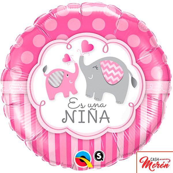 Qualatex - Globo de elefante rosa