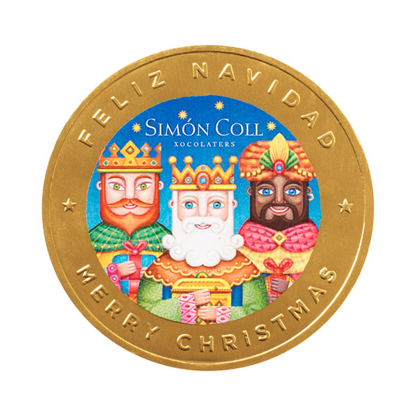 Simon Coll - Moneda de Reyes de chocolate