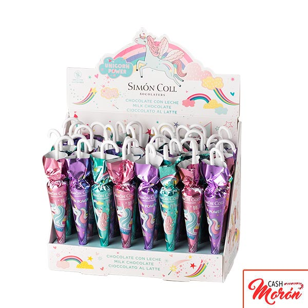 Paraguas Chocolate con Leche Unicornios 15g