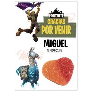 Tarjeta Agradecimiento Fortnite