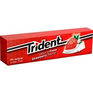 Chicles Trident Stick Fresa