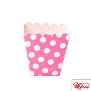 Verbetena - Cajita baja candy bar lunares rosas